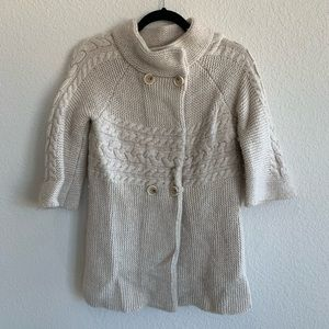 Ann Taylor Loft Double breasted wool sweater XS